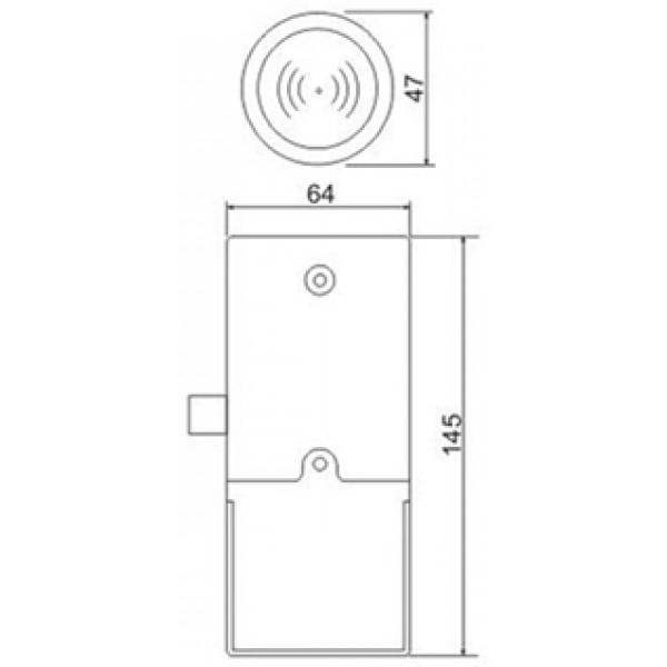 Электронный мебельный замок Z-395