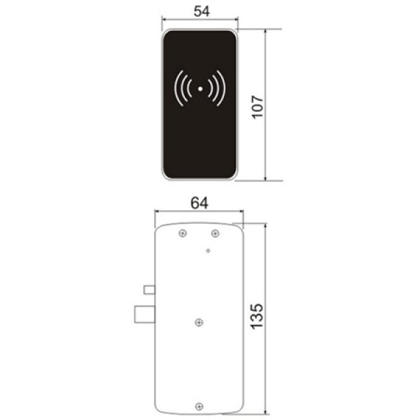Электронный мебельный замок Z - 495