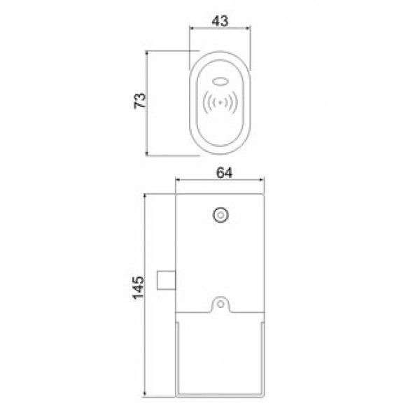 Электронный мебельный замок Z - 396