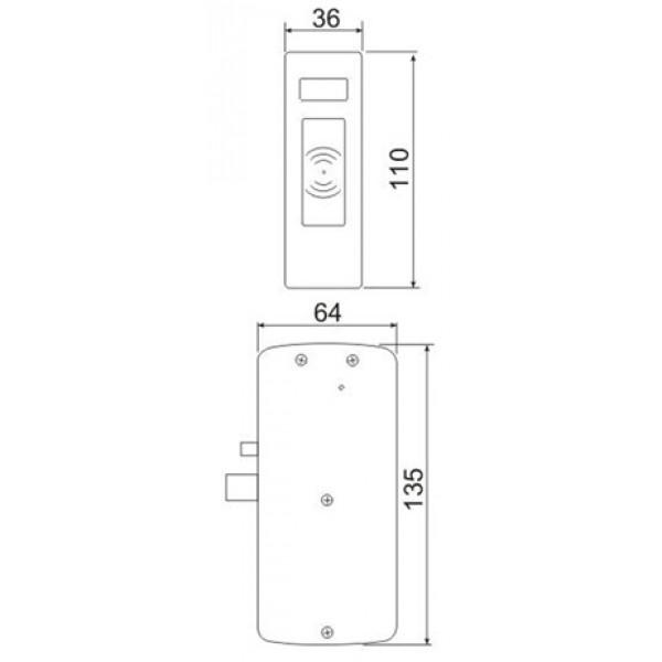 Электронный мебельный замок Z - 496