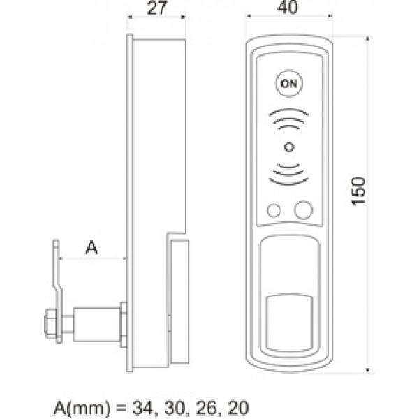 Электронный мебельный замок Z - 595