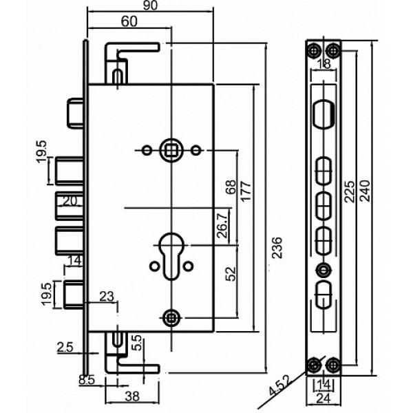 Врезной биометрический замок EVERNET U-501