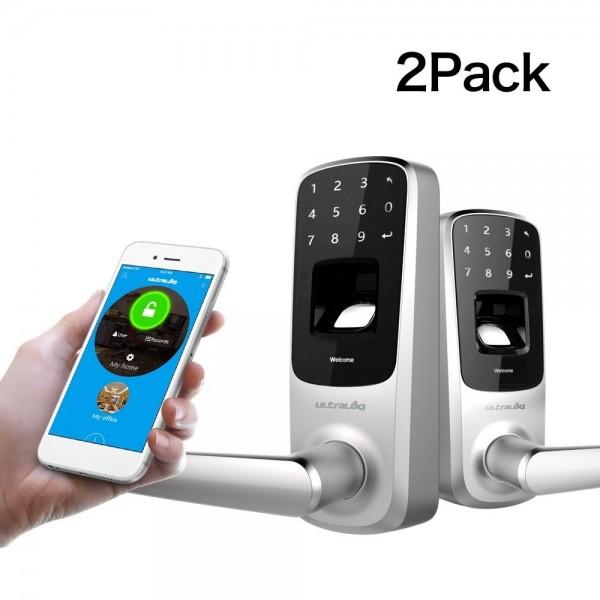 Биометрический дверной замок с кодовой сенсорной панелью и bluetooth UltraLog-UL3BT