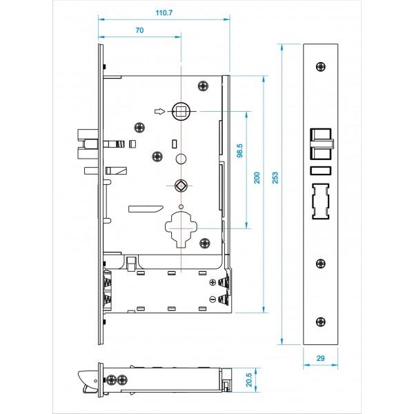 Бесконтактный замок IS100-G  для гостиниц на RF картах