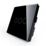 Сенсорный выключатель трехлинейный серии Classic EC-3-B без радиомодуля (черный)