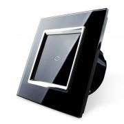 Сенсорный выключатель с таймером однолинейный серии Quadro EQ-1T-B (черный)
