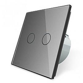 Сенсорный выключатель двухлинейный серии Classic EC-2-G без радиомодуля (серый)