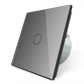 Сенсорный выключатель однолинейный серии Classic EC-1-G без радиомодуля (серый)