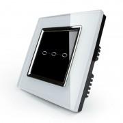 Сенсорный выключатель трехлинейный серии Quadro EQ-3R-W с радиомодулем (белый)