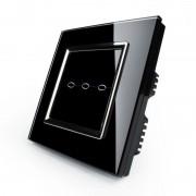 Сенсорный выключатель трехлинейный серии Quadro EQ-3R-B с радиомодулем (черный)