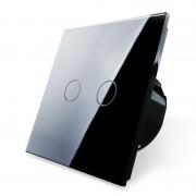 Проходной сенсорный выключатель серии Classic без радиомодуля двухлинейный EC-2S-B (черный)