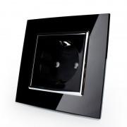 Розетка электрическая черная