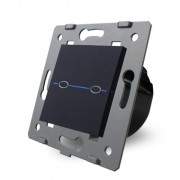Сенсорный выключатель двухлинейный без радиомодуля EQ-2