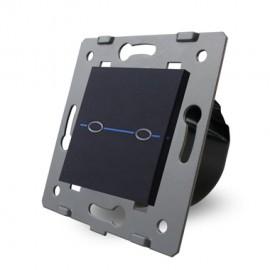 Проходной сенсорный выключатель серии Quadro без радиомодуля двухлинейный EQ-2S