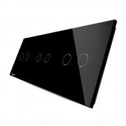 Модульная панель 3 поста серии Classic C-2-2-2-B (цвет черный)