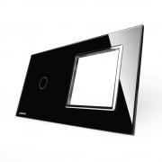 Модульная панель 2 поста серии Classic C-1-EL-B (цвет черный)