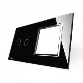 Модульная панель 2 поста серии Classic C-2-EL-B (цвет черный)