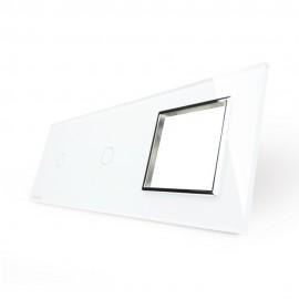 Модульная панель 2 поста серии Classic C-2-EL-W (цвет белый)