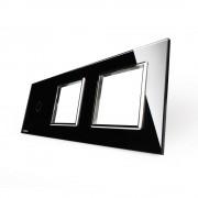 Модульная панель 3 поста серии Classic C-1-EL-EL-B (цвет черный)