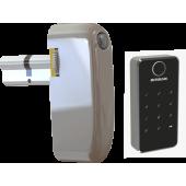 Электронный моторизированный цилиндр для замка с открытием по коду, картами и биометрией Motor-BioCode-Lock