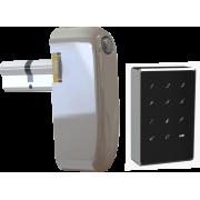 Электронный моторизированный цилиндр для замка с открытием по коду и картами Motor-Code-Lock