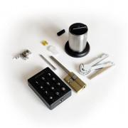 Электронный моторизированный цилиндр для замка с открытием по коду и картами Motor-Code-Lock-TTL, с удаленной сменой пароля и беспроводной панелью