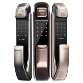 Врезной биометрический push and pull замок Samsung SHP-DP728 Dark Silver (с одиночным ригельным механизмом)