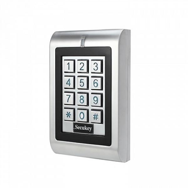 Комплект SKUD-13 с доступом по карте и коду с электромагнитным замком для установки на уличную входную дверь