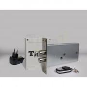 Врезной электронный замок невидимка Титан GSM с накладным блоком управления