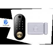 Накладной электронный биометрический всепогодный замок Visit-Lock-TTL 15 с возможностью удаленной смены кода