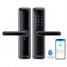 Входной электронный биометрический замок Visit-Lock-TTL 710 (black) с возможностью удаленного открытия и смены паролей
