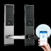 Входной электронный смарт замок Visit-Lock -TTL 32 с возможностью удаленной смены паролей (цвет хром)